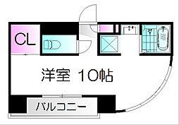 仙台市地下鉄東西線 青葉通一番町駅 徒歩4分の賃貸マンション 5階ワンルームの間取り