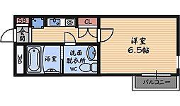 兵庫県尼崎市大庄北1丁目の賃貸マンションの間取り