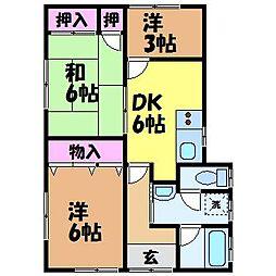 [一戸建] 愛媛県松山市松末1丁目 の賃貸【/】の間取り