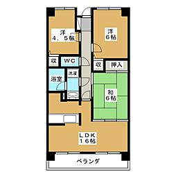 コンバウス西中田[1階]の間取り