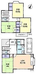 [一戸建] 千葉県船橋市松が丘5丁目 の賃貸【/】の間取り