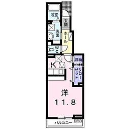 岡山県岡山市東区瀬戸町沖丁目なしの賃貸アパートの間取り