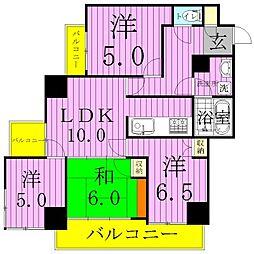 松戸Nアドレス[203号室]の間取り