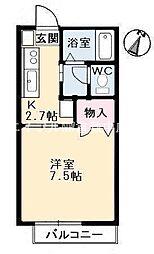 サンライズ21[1階]の間取り