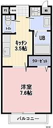 11番館 1階1Kの間取り