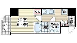 グリーン・ネス神戸駅前[1001号室]の間取り