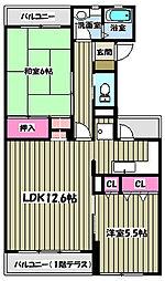 多摩サンハイツ[3階]の間取り