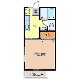 カレッジハイツ上松[1階]の間取り