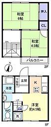 草刈コーポ[1階]の間取り