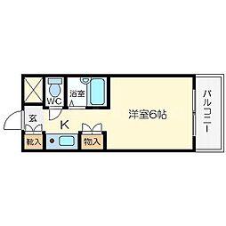 レスト関目[4階]の間取り