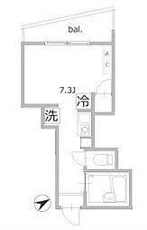 ブロッサムテラス町屋[2階]の間取り