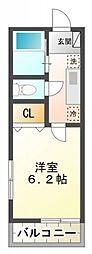 ウイング矢川[1階]の間取り