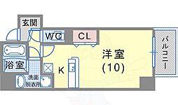 JR東海道・山陽本線 須磨海浜公園駅 徒歩12分の賃貸マンション 5階ワンルームの間取り