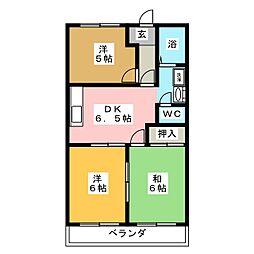 コーポFUKUJIN[2階]の間取り