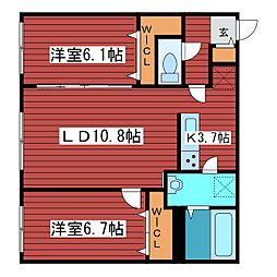 Infinite福住[1階]の間取り