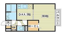 兵庫県姫路市幸町の賃貸アパートの間取り