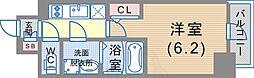 JR東海道・山陽本線 神戸駅 徒歩6分の賃貸マンション 7階1Kの間取り