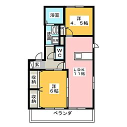 GULMOHAR[1階]の間取り