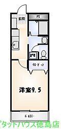 フィネス南昭和[105号室]の間取り