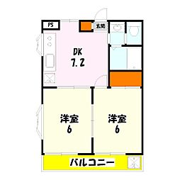 東京都足立区花畑3丁目の賃貸マンションの間取り