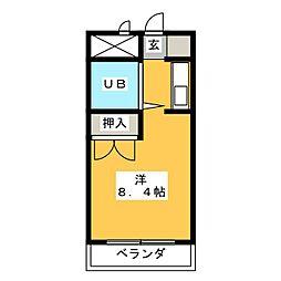 メゾン橘[3階]の間取り