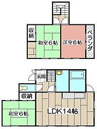 [一戸建] 福岡県北九州市小倉北区都1丁目 の賃貸【/】の間取り
