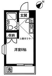 柳沢コーポ[201号室]の間取り