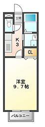 モンターニュ高岡[2階]の間取り