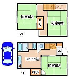 [一戸建] 兵庫県神戸市長田区高取山町2丁目 の賃貸【/】の間取り