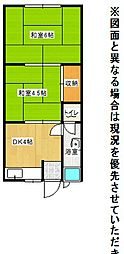 福岡県北九州市小倉北区金鶏町の賃貸アパートの間取り