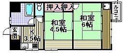 マンション新川[1003号室]の間取り