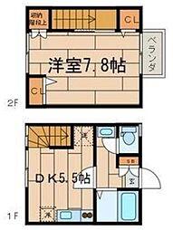 東京都狛江市和泉本町1丁目の賃貸アパートの間取り