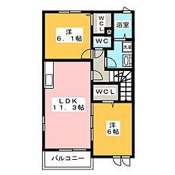 N−グランツ[2階]の間取り