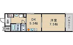 パークサイドエール[8階]の間取り