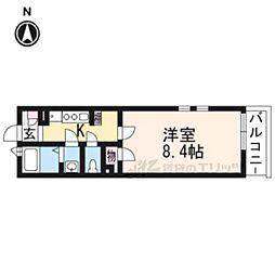 クレイノセントコージア山崎 3階1Kの間取り