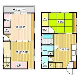 [一戸建] 神奈川県厚木市旭町3丁目 の賃貸【/】の間取り