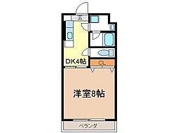 静岡県富士市松岡の賃貸マンションの間取り