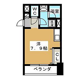 レジディア高岳[13階]の間取り