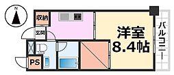 ベルファース尼崎[417号室号室]の間取り
