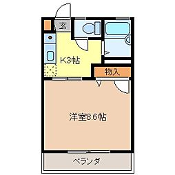 パークサイド高田B棟[2階]の間取り