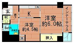 北堀江団地[9階]の間取り