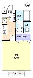 メゾンブランシェ[2階]の間取り