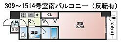 プレサンスNEO淀屋橋[9階]の間取り