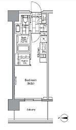 JR山手線 田町駅 徒歩7分の賃貸マンション 5階1Kの間取り