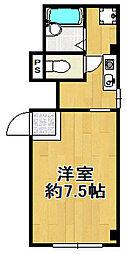 アドバンス平尾[1階]の間取り