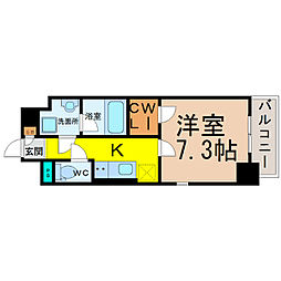 MONYOIE(モンヨイーエ)[4階]の間取り