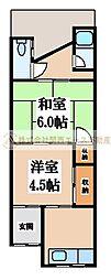 [テラスハウス] 大阪府堺市西区鳳中町9丁 の賃貸【/】の間取り