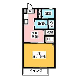 ヴィラノーツ[2階]の間取り