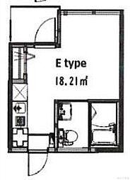 フォレシア鎌倉 3階ワンルームの間取り