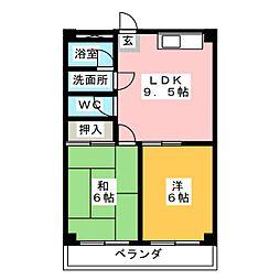 メゾン  ツボイ  C棟[2階]の間取り